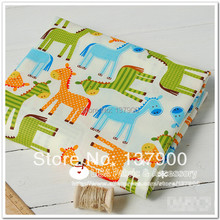 100% Cotton Fabric color hippopotamus printed for baby usage width twill style - 160cm x 100cm