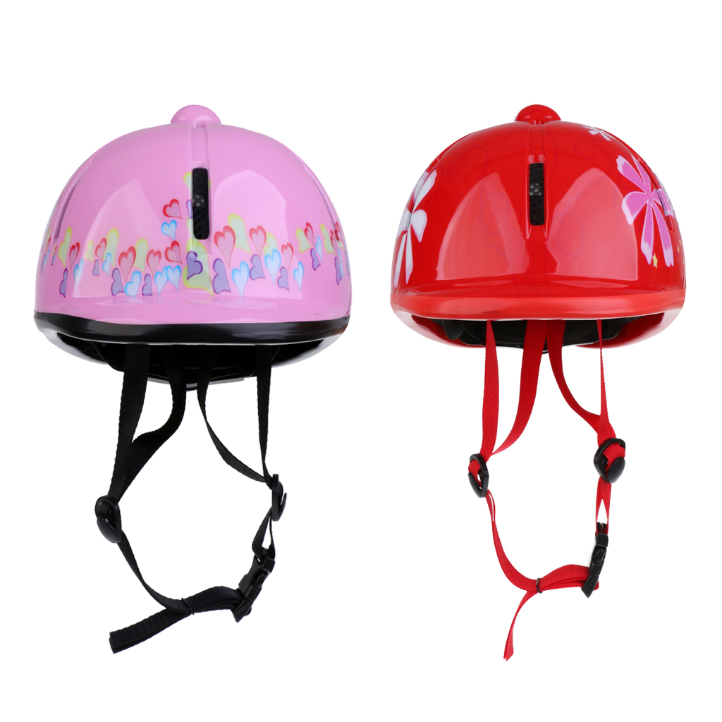 2Pcs Outdoor Sports Equestrian Helmet Kids Adjustable Horse Riding Hat 48-54cm