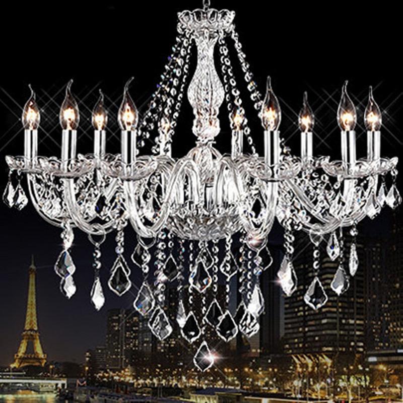 Modern crystal chandelier light fixtures Clear K9 crystal lustres de cristal chandelier lamp for living room kitchen candelabro цена 2017