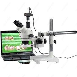 Mikroskop Trinocular 80-LED-AmScope Supplies 7X-90X Trinocular 80-LED Zoom mikroskop stereo na wysięgnik + kamera usb 3MP