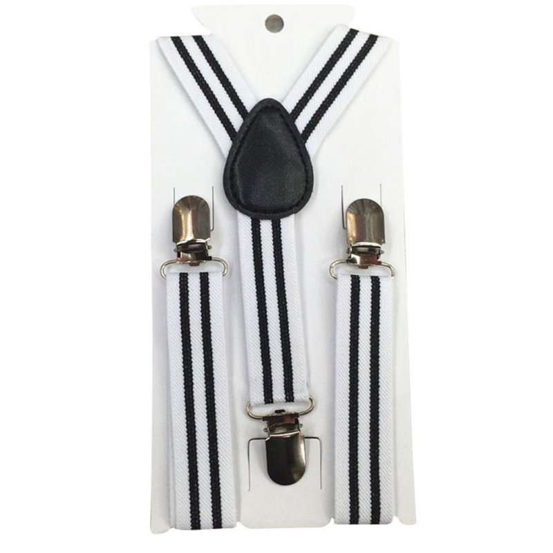 New Boys Girls Stripes Y-Back Suspenders Child Elastic Adjustable Clip-On Braces W1 P18