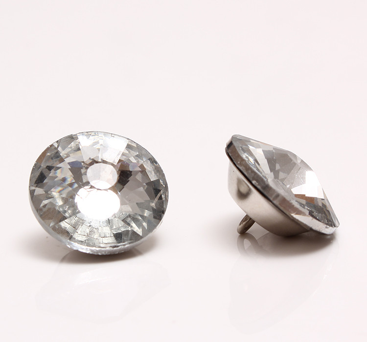 (1392 Stks/partij) 18 Mm Crystal Diamond Bekleding Hoofdeinde Knoppen Sofa Muur Decor
