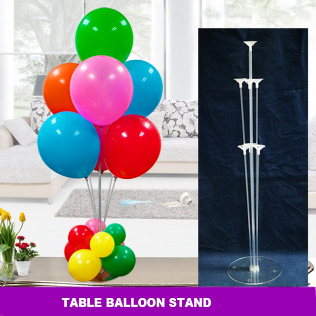 table balloon stand 38 quot  height 1 pcs with balloons  30pcs