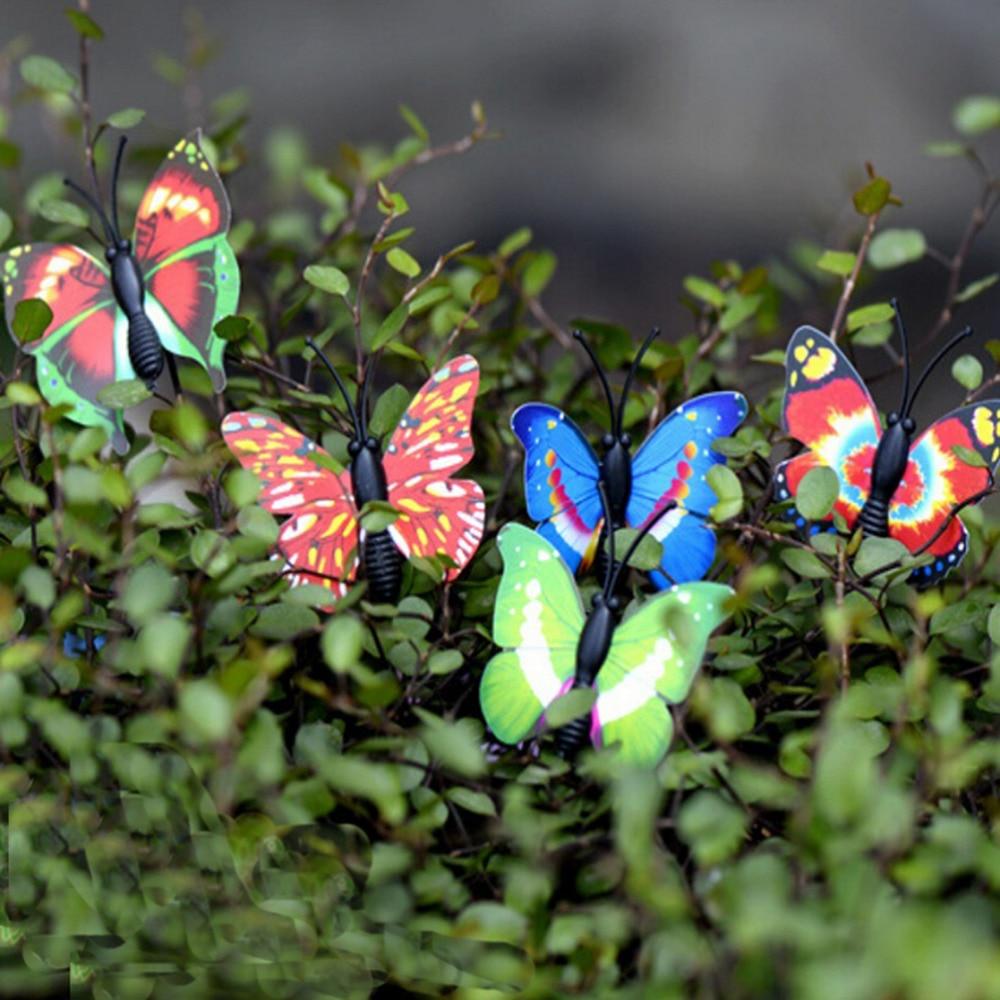 4 Pcs/set Cute Butterfly Fairy Garden Mini Gnomes Moss Terrariums Figurines For Garden Decoration Miniatures Crafts 4x4cm