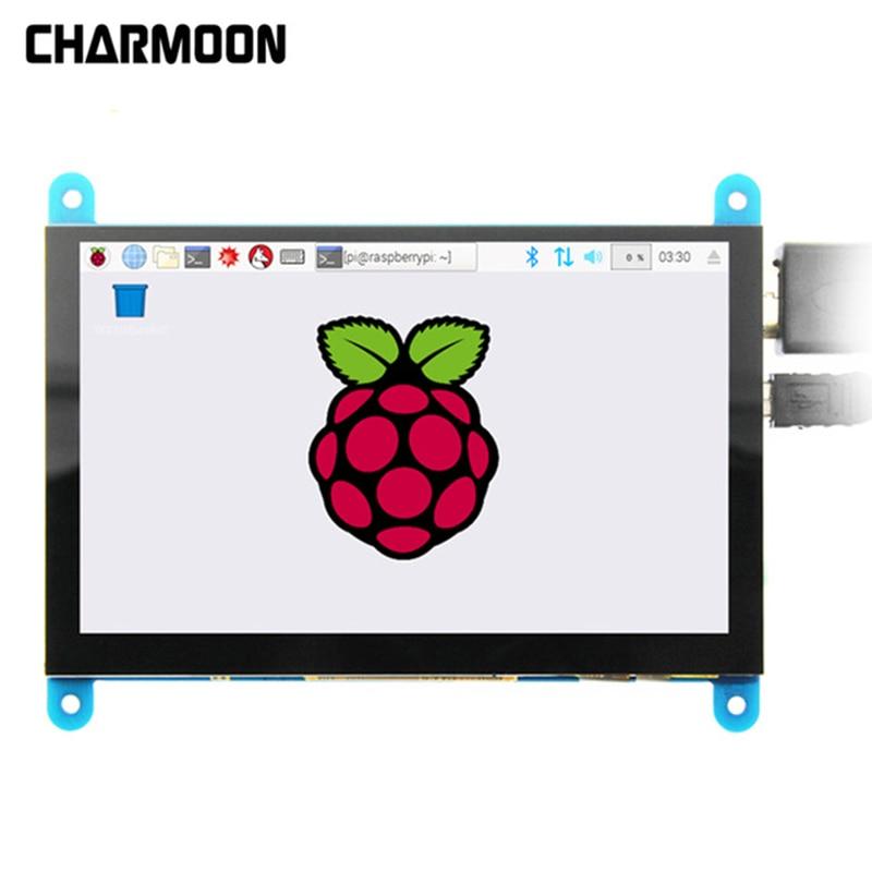 Raspberry Pi 3 modèle B + 5 pouces 800*480 écran LCD HDMI HD Module LCD capacitif USB 5 points écran tactile pas besoin de Support de pilote