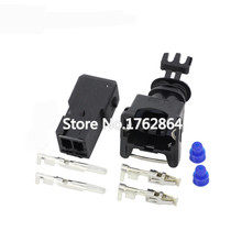 5 Sets AMP Tyco JPT Style 3.5mm Series 2 pin DJ7021A-3.5-11/21 Waterproof Female And Male Connector With Pins Seal  EV1 2P