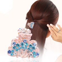 цена Chic Hair Ornaments Claw  Accessories Imitation Crystal Metal Hair Claws Clip for women Girls Crab Fashion unique Hair Claw Hot
