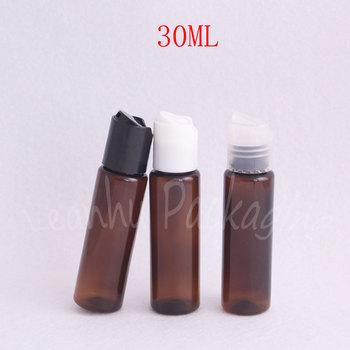 30ML Brown Flat Shoulder Plastic Bottle , 30CC Makeup Sub-bottling , Shampoo / Lotion Portable Travel Packaging Bottle