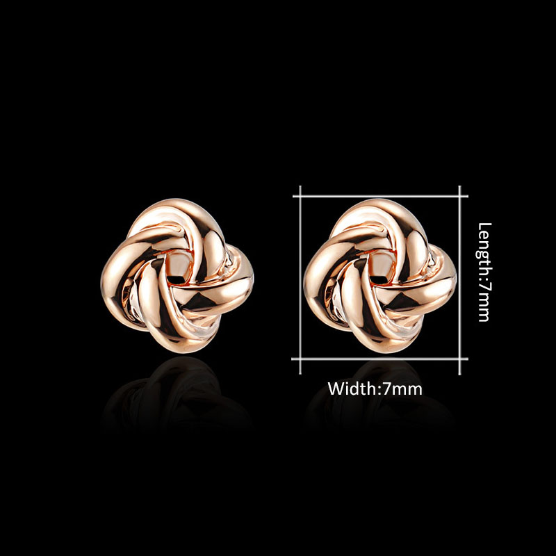 MISANANRYNE Unique Stud Earrings For Women Twist knot Rose Gold amp Silver Colors Earrings Jewelry Boucles d 39 oreilles brincos in Stud Earrings from Jewelry amp Accessories