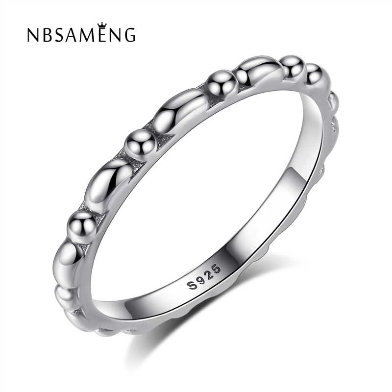 d5109eef948d Auténtico 100% 925 de plata esterlina moda europea Anillos antiguo anillo  para las mujeres joyería fina del partido del regalo de cumpleaños