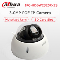 Dahua 3MP IPC HDBW2320R ZS POE IP Camera Vandalproof Dome 2 7 12mm Motorized Lens With