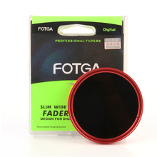 FOTGA Ultra Delgado 82mm Fader Ajustable ND Variable Lente ND8 ND2 ND400 Filtro Rojo
