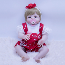NPK new Full Silicone Reborn Girl Baby Doll Toys blue eyes Baby Reborn Dolls children brithday Gift Bebe Alive Reborn Bonecas lovely silicone baby dolls with santa claus clothes children christmas gifts brown eyes lifelike alive reborn simulation doll