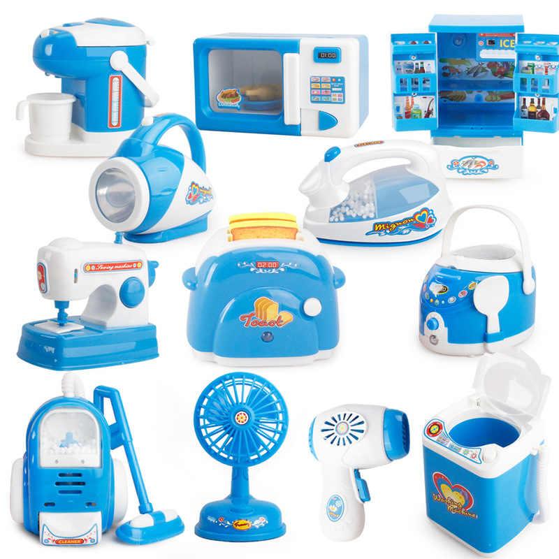 Новый детский игровой домик маленькая бытовая техника стиральная машина игрушка рисоварка кухонная игрушка холодильник стол миниатюрная мебель