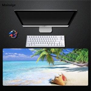 Mairuige пользовательский тропический пляж Кокосовая крыса коврик 400X900 большой размер ватник, клавиатура коврик Натуральный каучук Коврик для ...