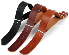 Zulu Leather Watch Strap Watchbands Black Leather 18mm 20mm 22mm For Note G10 For Suunto Generic цены