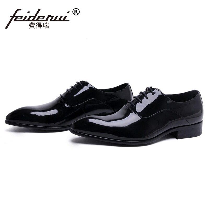 Nueva Cuero Negro Masculinos Boda Punta Oxfords Mano Laced 2017 Lujo Hombre Marca Zapatos Hechos Partido Pisos Toe Nupcial Me62 Hombres A De dpnfCq