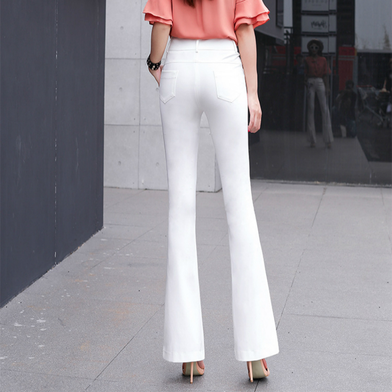 2018 new spring and summer Fashion casual brand slim high waist female women girls flare pants clothes