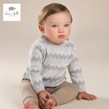 DB4014 дэйв белла осень мальчики серый свитер детские одежда детская волна свитер