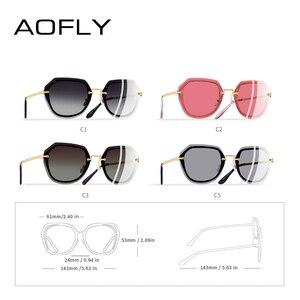 Image 4 - AOFLY DESIGN Fashion Women Sunglasses Vintage Retro Gradient Polarized Sun glasses Female Summer Style BRAND Shades Gafas A110