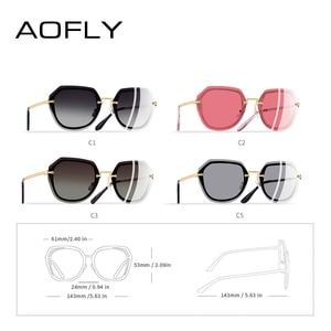 Image 4 - AOFLY DESIGN Mode Frauen Sonnenbrille Vintage Retro Gradienten Polarisierte sonnenbrille Weibliche Sommer Stil MARKE Shades Gafas A110