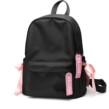 Women Backpack Sweet Girls Bow Pink School Bags For Teenager Girls Feminine Sac A Dos Travel Oxford Cloth Fashion Famous Brand все цены