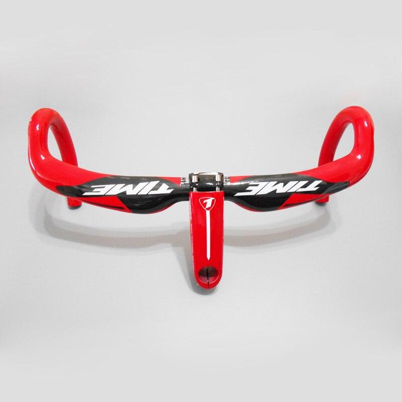Цена за 2017 новый полный углеродного волокна велосипед руль 31.8 мм калибра 400/420/440 мм ВРЕМЯ руль велосипеда углерода стволовых Дорога Руль/Бент Бар