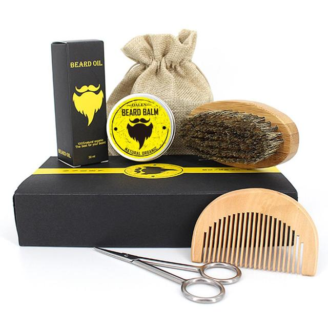 BellyLady Male Beard Care Set Beard Brush Beard Comb Beard Oil Beard Cream Scissors Grooming & Trimming Kit