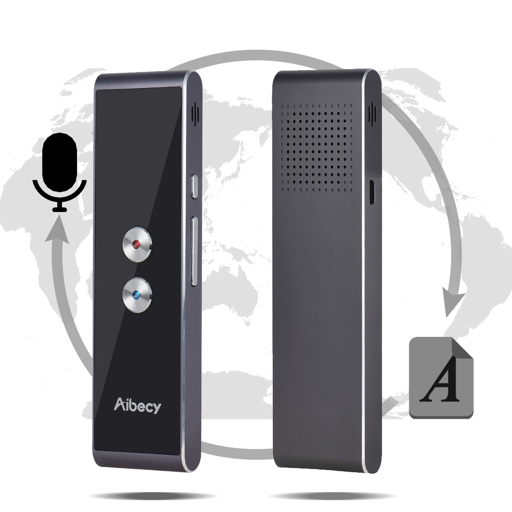 Aibecy Real-time Multi Language Translator Speech/ Text Translation Device with APP for Business Travel Shopping En CN Fr ES JA