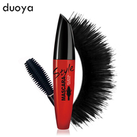 DUOYA Brand Makeup 3d Fiber Lashes Mascara To Eyelashes Waterproof Curling Thick Black Ink For Lashes Korea Cosmetics
