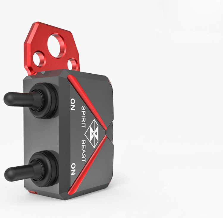 Waterproof Motorcycle CNC Aluminium Alloy Switches Aluminum Switch Box Handlebar Headlight Switch Hazard Light Switch