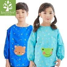 Cute Cartoon Colorful Baby Bibs Long Sleeve Art Apron Animal Smock Children Bib Burp Clothes Soft Feeding Eat Toddle Waterproof