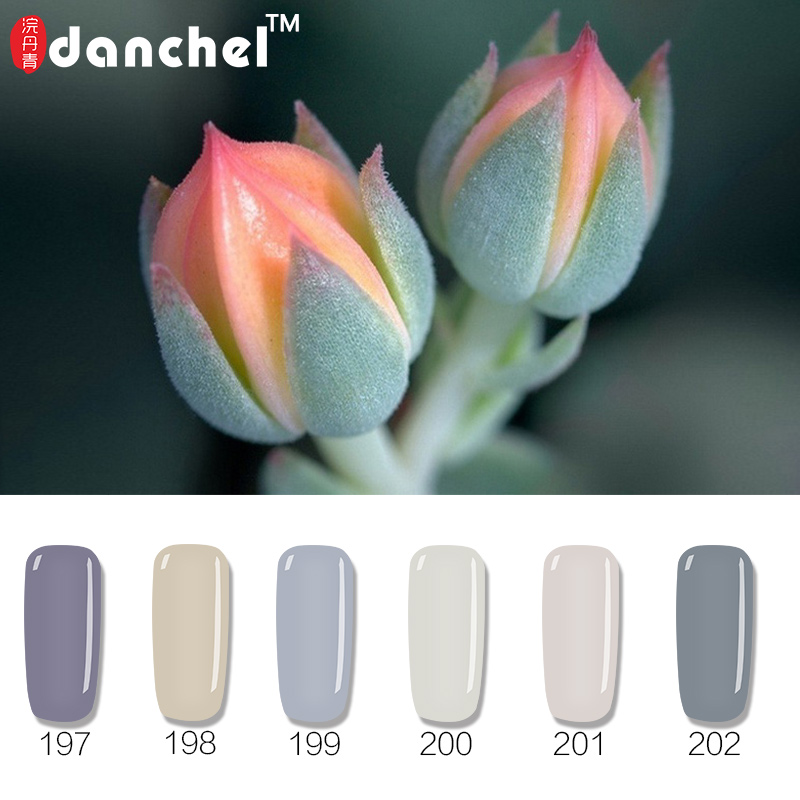 1pc DanchelGray Serie Nail Gel Polish Soak Off Gel Langdurige UV-Gel Vernissen Nail Art Naakt Grijze Kleuren Gelpolish 12 Kleuren