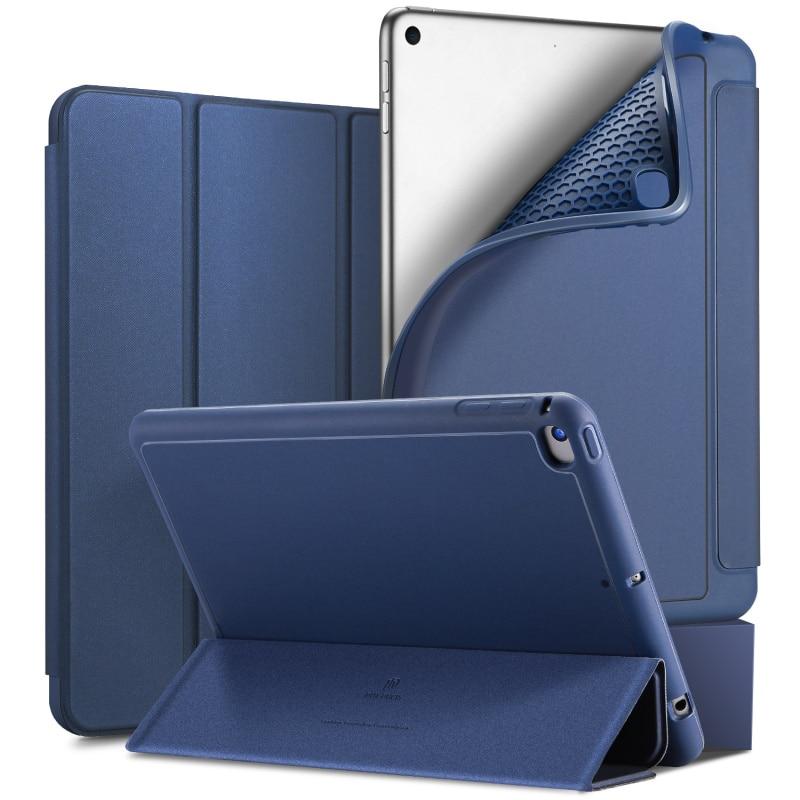 Original de Alta Qualidade Suave Toque Da Pele Estojo De Couro Pu Para Ipad Mini 5 2019 Silicone Macio Aleta Smart Cover Para ipad Mini 2019