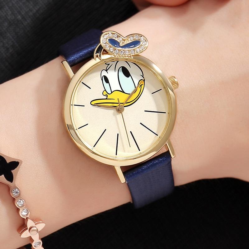 Disney Donald canard forme animale enfants montres Original nouveau Quartz Movt bracelet en cuir sans nickel cadeau sain pour enfant MK-11142