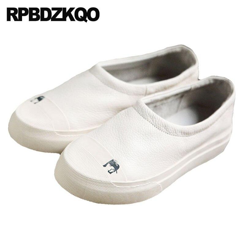 Véritable Formateurs 2018 Plate forme Blanc Sneakers Cuir Luxe blanc Femmes De Creepers Chaussures Muffin Semelle Marque Ascenseur Noir En Épaisse Harajuku wpxA654