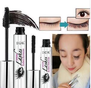 5f428ac7e32 2pcs DDK mascara Magic Black 4d silk fiber eyelash mascara DiDi Cat Eyelash  Extension Lengthening VolumeWaterproof Cosmetics