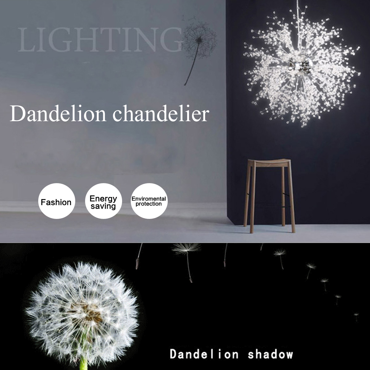 LED Dandelion Chandeliers Lighting for Dining Room Exhibition hall Bedroom Living Room LED White Light Pendant Hanging LampLED Dandelion Chandeliers Lighting for Dining Room Exhibition hall Bedroom Living Room LED White Light Pendant Hanging Lamp