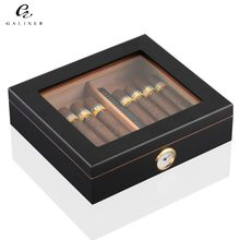 Cedar Wood Cigar Travel Humidor Box Portable Cigar Case W/ Humidifier Hygrometer Cigar Humidor Sigaren Box For COHIBA Cigars(China)