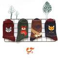 12pairs Animal Wool Socks Winter Autumn Women Owl Cat Deer Fox Wolf Cartoon Patterned Sock Cute Thermal Socks free shipping