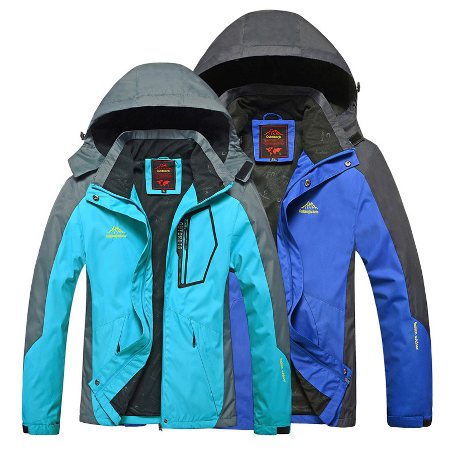 Penyendiri Musim Semi Dan Gugur Single Layer Pria Wanita Gunung Cozmeed Jaket Cramphon Abu Merah Luar Ruangan