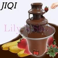 JIQI Household DIY 3 Tier Chocolate Fountain Fondue Mini Choco Waterfall Machine Three Layers Children Birthday