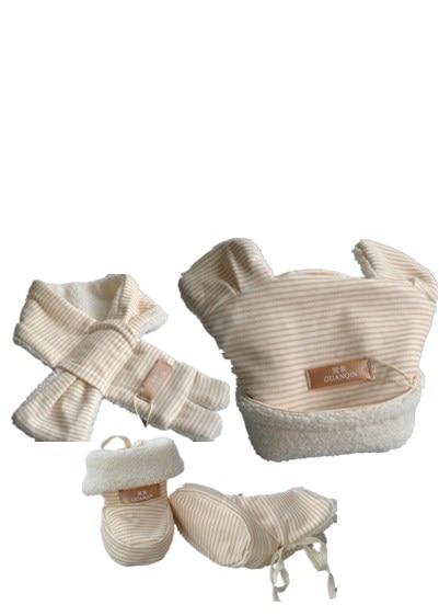 3 ks zimní teplý dětský klobouk šátek a - Oblečení pro miminka