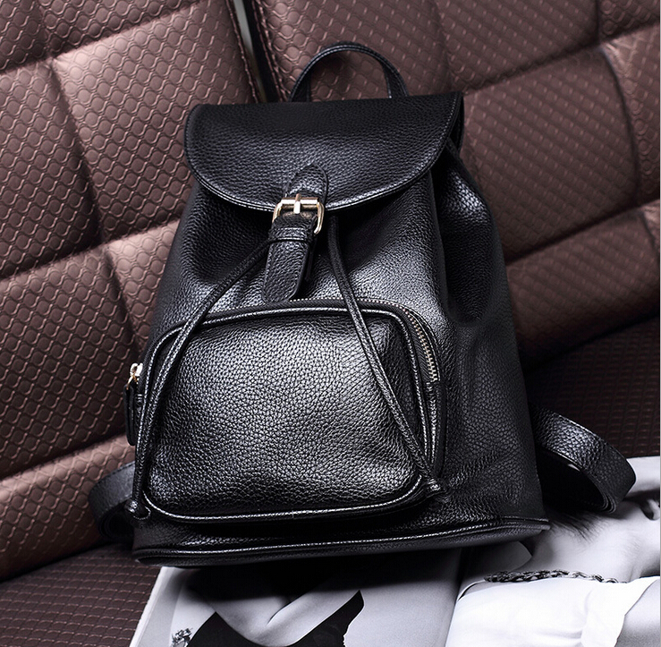 X Online new hot selling good quality women fashion leather backpack lady casual travel bags