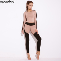 Yoga Set Printed Fitness Gym Running Set Sport Suit Women Tracksuit Sportswear Leggings Tight Jumpsuits Sports Clothing
