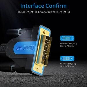 Image 3 - Unnlink DVI כבל DVI D 24 + 1 UHD 4K הכפול קישור ערוץ 1080P 144 זהב מצופה 1.5M 3M 5M 8M 15M עבור מחשב הטלוויזיה צג מקרן