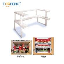TopFeng Spicy Shelf, Spice Rack, Stackable organizer, Kitchen Bathroom Cosmetics Storage organizer