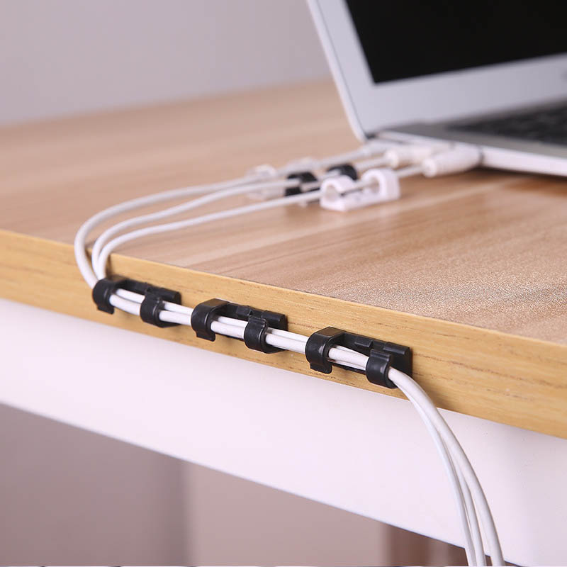 Flexible Cable Management Clips USB Cable Organizer Plastic USB Cable Winder Protector Ties Cable Winder Holder