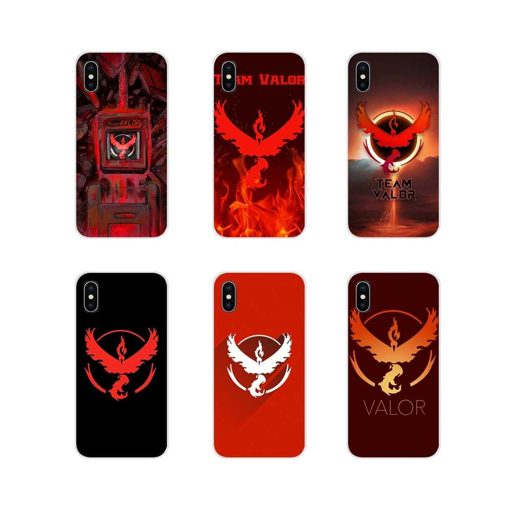 Para o iPhone Da Apple X XR XS MAX 4 4S 5 5S 5C SE 6 6 S 7 8 Plus ipod toque 5 6 Caso Do Telefone Móvel Cobre moda pokemon ir valor da equipe