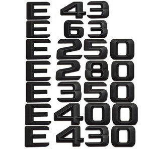 Image 3 - 3D מאט שחור W212 213 רכב סמל E350 E320 E250 E300 E220 E200 E280 E63 E CLA Emblema תג מדבקה לוגו עבור מרצדס בנץ AMG